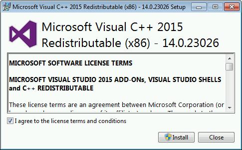 Microsoft Visual C++ 2015 Redistributable (32-bit