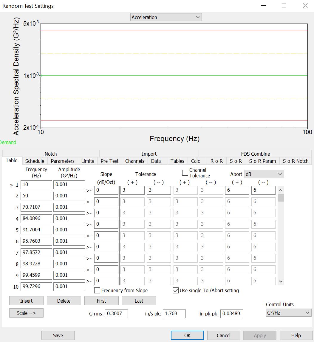 Random Test Settings Breakpoints Screenshot