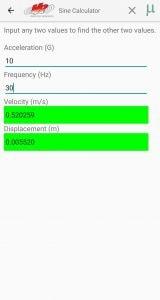 VR Mobile Sine Calculator