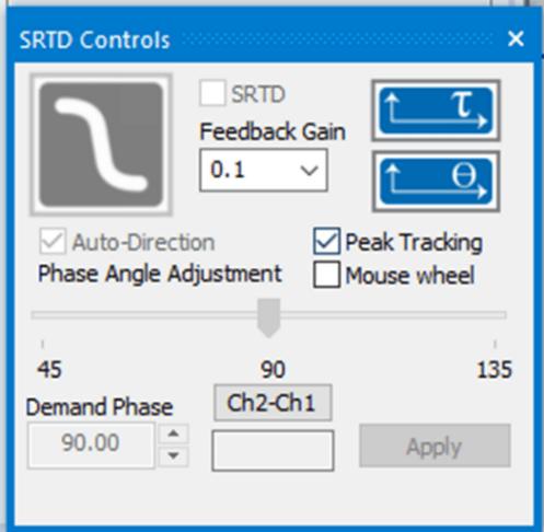 SRTD Controls panel in VibrationVIEW