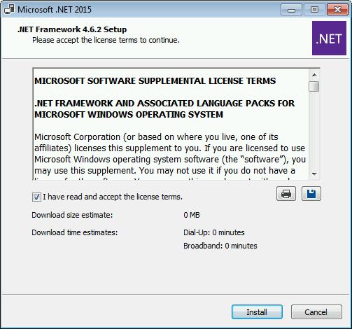 windows xp .net framework 4.6