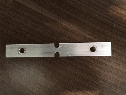 notched aluminum beam