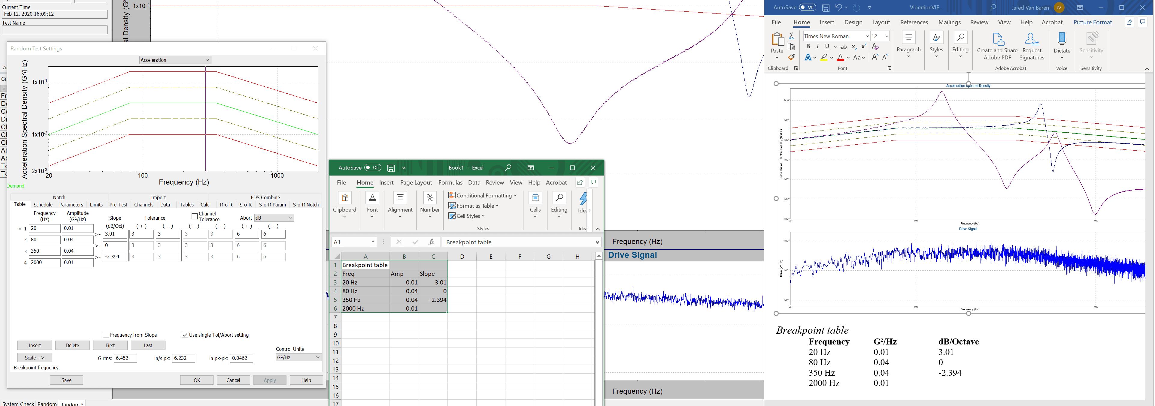 VibrationVIEW Copy & Paste with Microsoft Excel