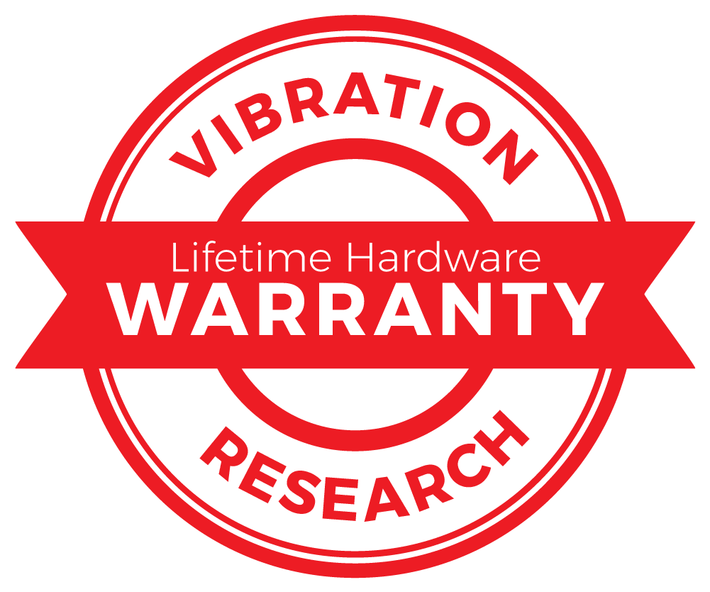 Vibration Research Lifetime Hardware Warranty