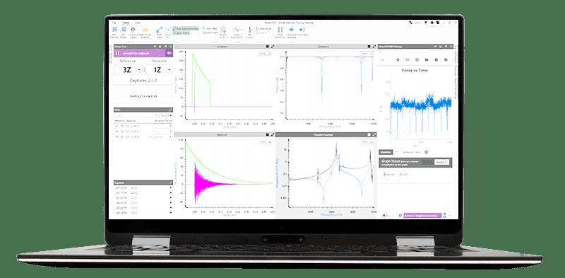 Modal Testing in ObserVIEW on laptop