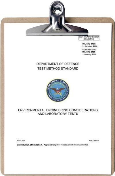 US Department of Defense Test Method Standard clipboard