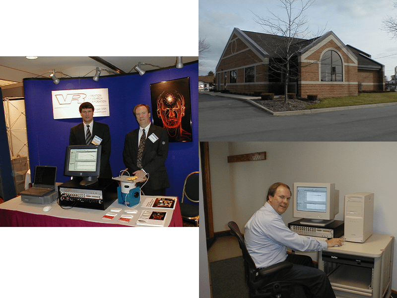 John and Phil Van Baren first trade show, office collage