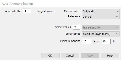 auto annotate settings dialog box
